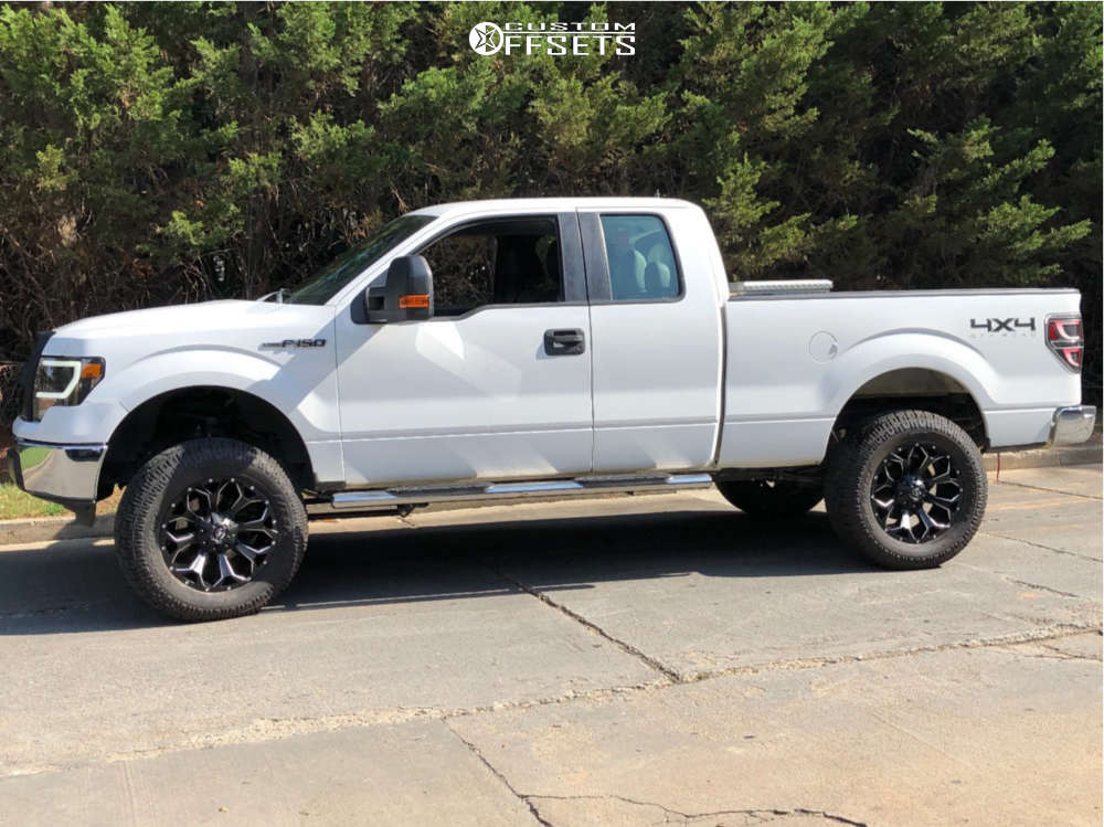 """2011 Ford F-150 Aggressive > 1"""" outside fender on 20x9 1 offset Fuel Assault and 35""""x12.5"""" Pro Comp A/t Sport on Suspension Lift 6"""" - Custom Offsets Gallery"""