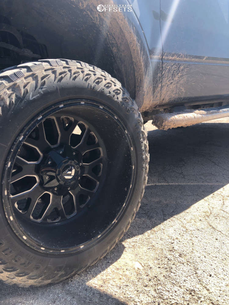 """2008 Ford F-150 Aggressive > 1"""" outside fender on 20x12 -43 offset Fuel Titan and 33""""x12.5"""" Maxxis Buckshot 2 on Suspension Lift 6"""" - Custom Offsets Gallery"""