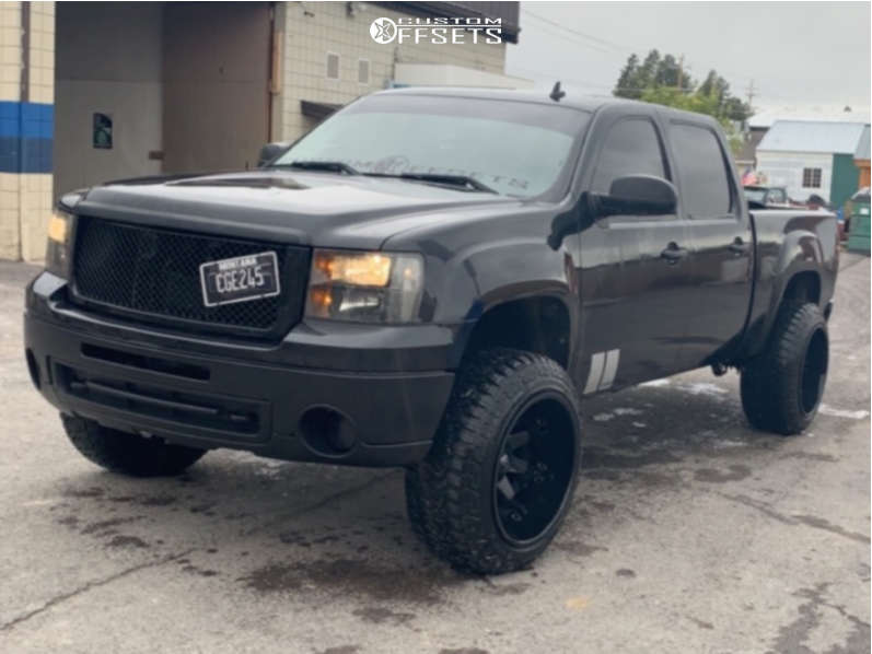 """2009 GMC Savana 1500 Aggressive > 1"""" outside fender on 22x14 -76 offset Fuel Octane and 35""""x12.5"""" Fury Offroad Country Hunter Mt on Suspension Lift 3.5"""" - Custom Offsets Gallery"""