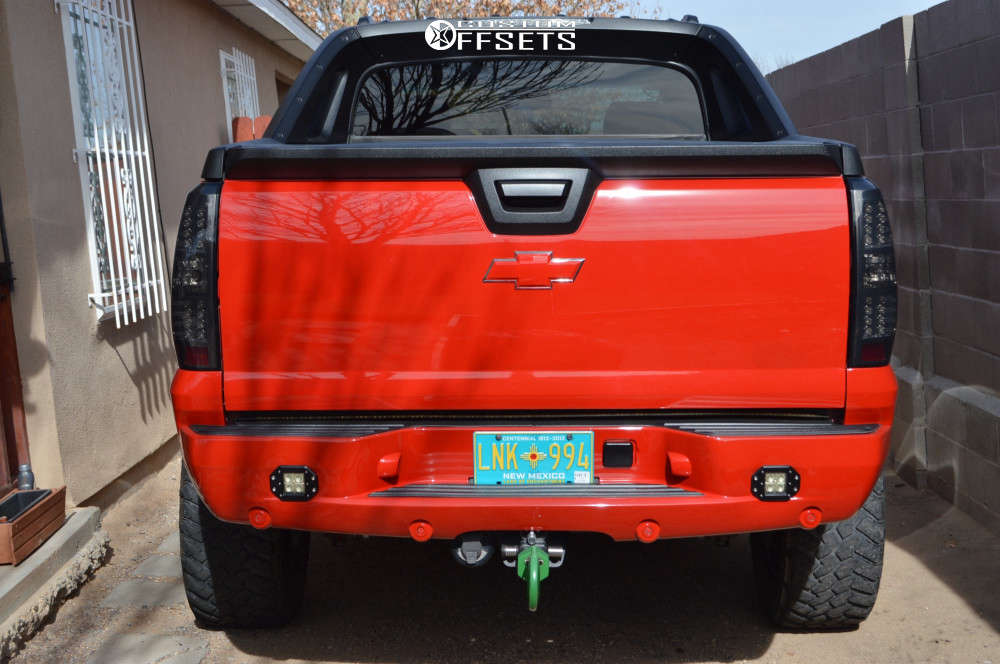 """2007 Chevrolet Avalanche Aggressive > 1"""" outside fender on 20x9 0 offset Ballistic Jester & 35""""x12.5"""" Nitto Trail Grappler on Suspension Lift 6"""" - Custom Offsets Gallery"""