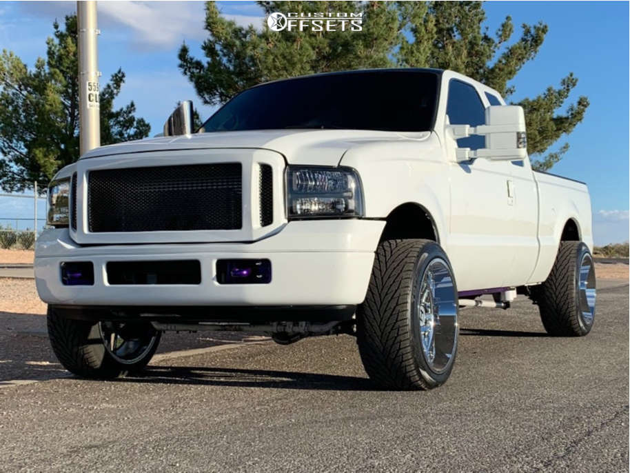 """2000 Ford F-250 Super Aggressive 3""""-5"""" on 22x12 -44 offset Hostile Sprocket & 305/40 Toyo Tires Proxes S/t on Level 2"""" Drop Rear - Custom Offsets Gallery"""