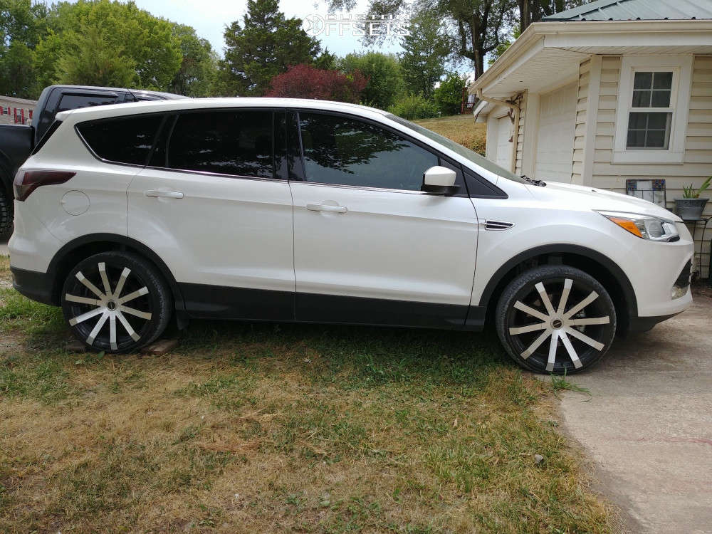 """2014 Ford Escape Aggressive > 1"""" outside fender on 20x8.5 30 offset Strada Gabbia and 315/30 Lexani Lx-twenty on Lowered Adj Coil Overs - Custom Offsets Gallery"""