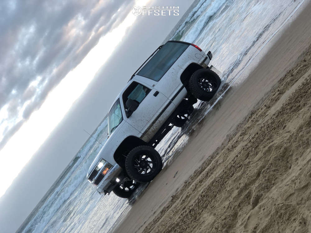 """1994 Chevrolet Blazer Super Aggressive 3""""-5"""" on 22x14 -68 offset Black Rhino Swerve & 35""""x12.5"""" Fury Offroad Country Hunter Rt on Suspension Lift 6"""" - Custom Offsets Gallery"""