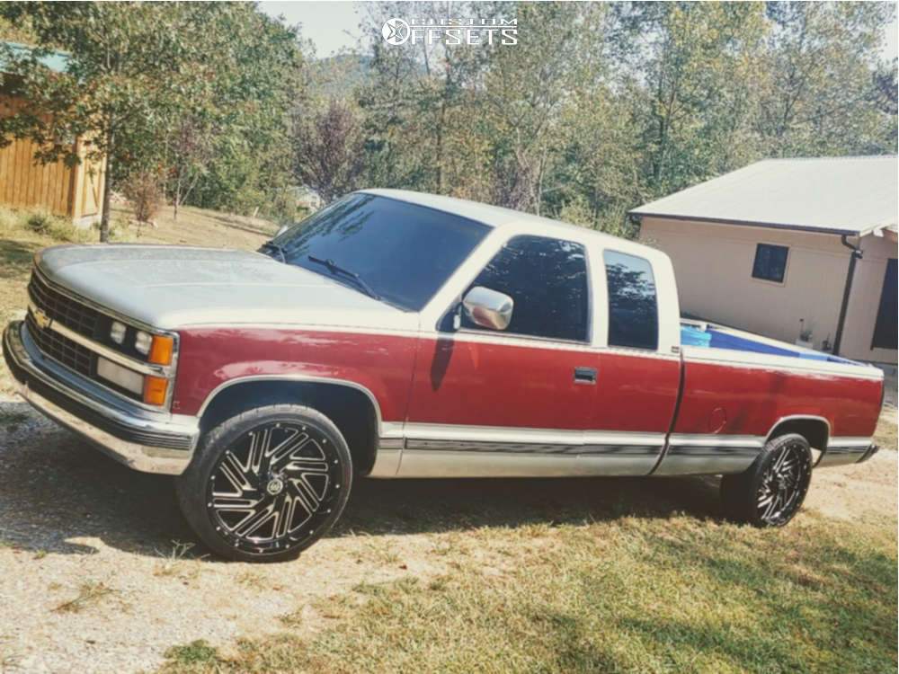 1988 Chevrolet C2500 Flush on 22x10 15 offset Hardcore Offroad Hc11 and 265/35 Nitto Nt420s on Stock Suspension - Custom Offsets Gallery