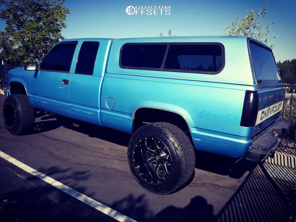 """1995 Chevrolet Silverado 1500 Super Aggressive 3""""-5"""" on 20x14 -77 offset Fuel Maverick & 35""""x12.5"""" Toyo Tires Open Country R/T on Suspension Lift 6"""" - Custom Offsets Gallery"""