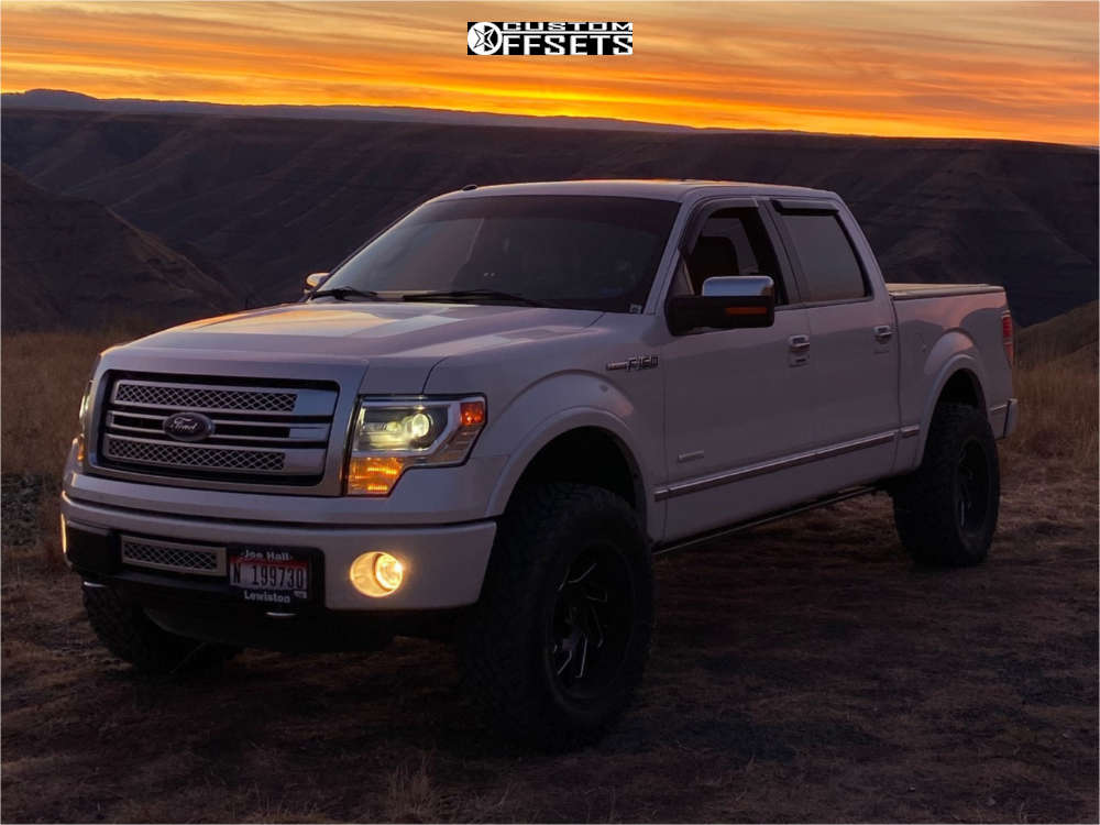 """2014 Ford F-150 Super Aggressive 3""""-5"""" on 20x10 -25 offset ARKON OFF-ROAD Cleopatra and 35""""x12.5"""" Fuel Mud Gripper on Suspension Lift 3.5"""" - Custom Offsets Gallery"""
