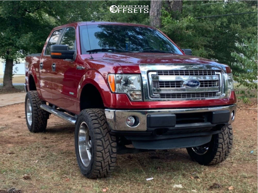 """2013 Ford F-150 Aggressive > 1"""" outside fender on 20x10 -25 offset Fuel Forged Ff12 and 37""""x12.5"""" Toyo Tires Open Country R/T on Suspension Lift 6"""" & Body 3"""" - Custom Offsets Gallery"""