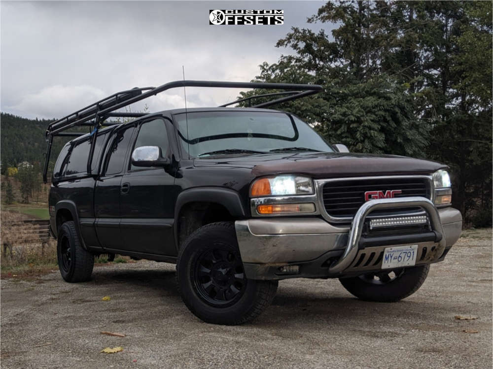 2001 GMC Savana 1500 Slightly Aggressive on 18x9 -12 offset Dirty Life Ironman and 265/70 Toyo Tires Observe Gsi-5 on Leveling Kit - Custom Offsets Gallery