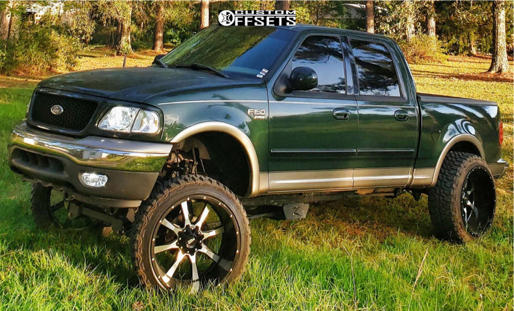 """2002 Ford F-150 Super Aggressive 3""""-5"""" on 24x14 -76 offset Moto Metal Mo970 and 35""""x12.5"""" Haida Mud Champ on Suspension Lift 6"""" & Body 3"""" - Custom Offsets Gallery"""