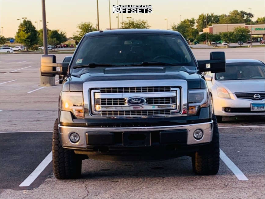 """2014 Ford F-150 Aggressive > 1"""" outside fender on 20x9 -12 offset Ballistic Anvil and 33""""x12.5"""" Achilles Desert Hawk Xmt on Leveling Kit - Custom Offsets Gallery"""