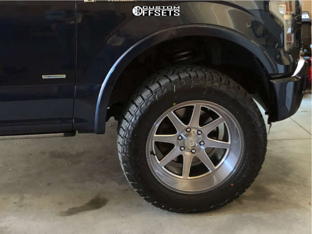 """2016 Ford F-150 Aggressive > 1"""" outside fender on 20x10 -18 offset XD Xd844 and 305/55 Falken Wildpeak At3w on Leveling Kit - Custom Offsets Gallery"""