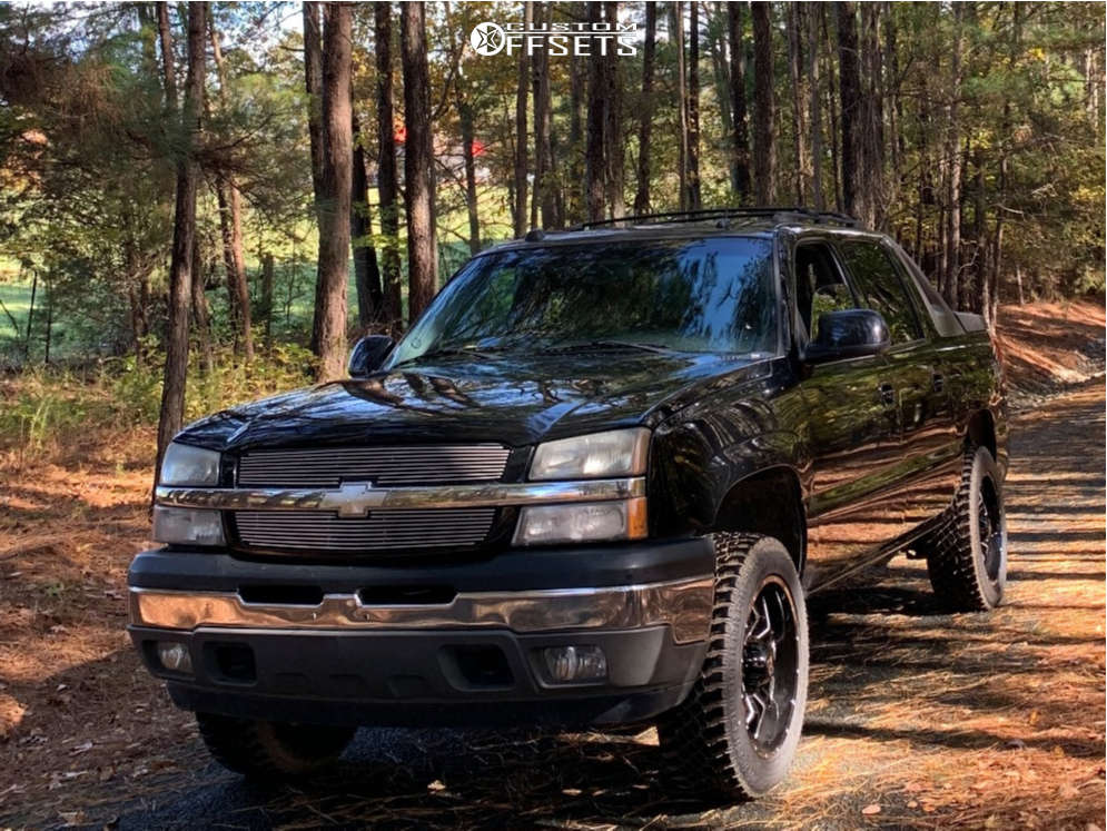 """2005 Chevrolet Avalanche 1500 Aggressive > 1"""" outside fender on 20x9 0 offset Havok H109 & 265/60 Atturo Trail Blade Xt on Stock Suspension - Custom Offsets Gallery"""