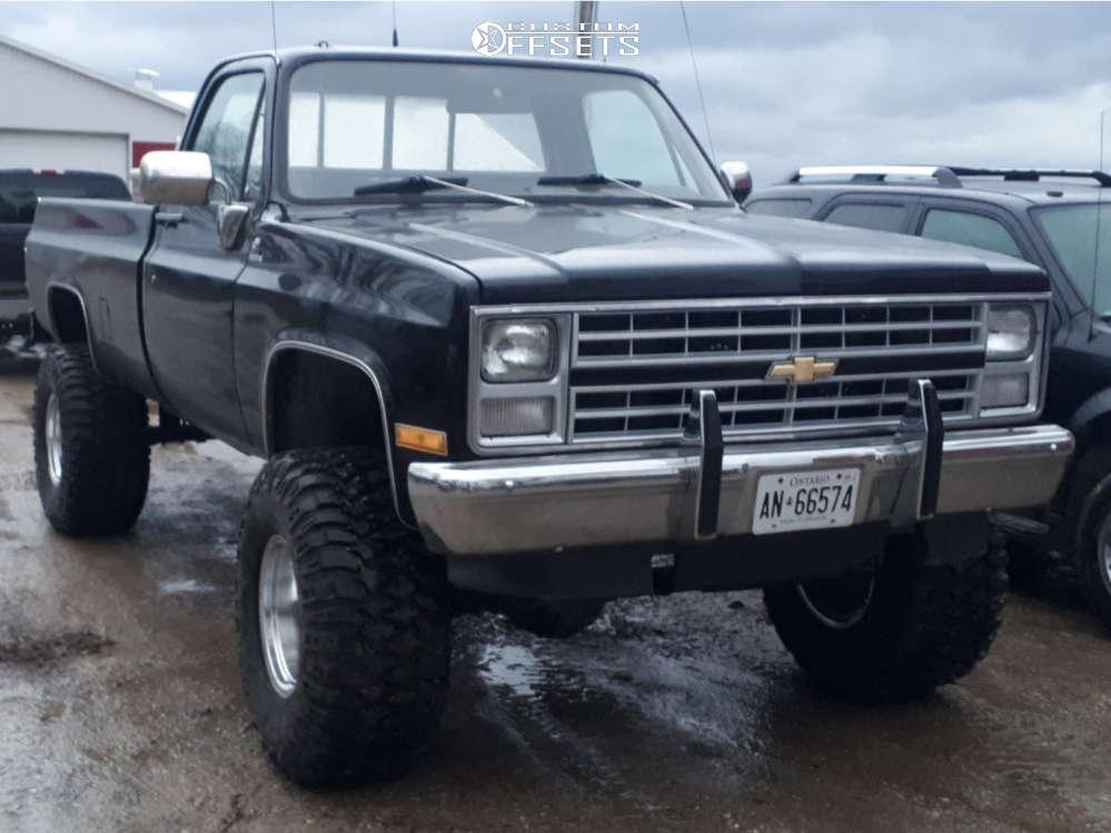 "1976 Chevrolet K20 Aggressive > 1"" outside fender on 16x12 -50 offset Mickey Thompson Classic Iii & 375/65 Mickey Thompson Baja Mtz P3 on Suspension Lift 6"" - Custom Offsets Gallery"