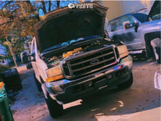 """2002 Ford F-350 Super Duty Aggressive > 1"""" outside fender on 20x10 -24 offset Anthem Off-Road Instigator and 275""""x60"""" Atturo Trail Blade At on Stock Suspension - Custom Offsets Gallery"""
