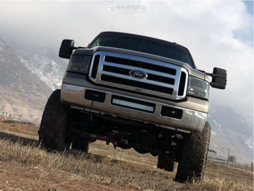 """2006 Ford F-350 Super Duty Super Aggressive 3""""-5"""" on 22x12 -44 offset Mayhem Arsenal and 37""""x13.5"""" Thunder Mud Trac M/t on Suspension Lift 8"""" - Custom Offsets Gallery"""
