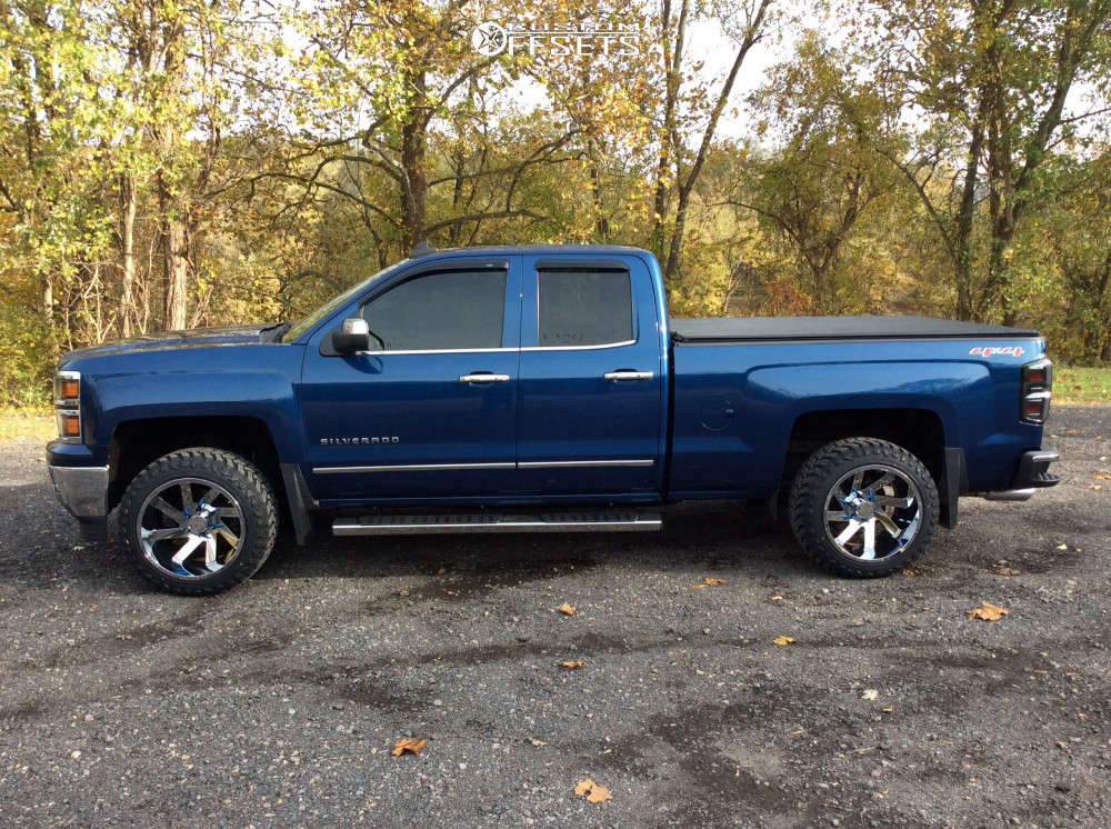 "2015 Chevrolet Silverado 1500 Super Aggressive 3""-5"" on 20x12 -51 offset ARKON OFF-ROAD Lincoln & 285/50 Atturo Trail Blade Mt on Leveling Kit - Custom Offsets Gallery"