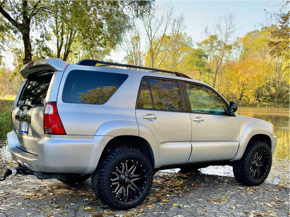 """2006 Toyota 4Runner Aggressive > 1"""" outside fender on 20x10 -12 offset Karma Offroad K21 & 33""""x12.5"""" Atturo Trail Blade Xt on Suspension Lift 3"""" - Custom Offsets Gallery"""