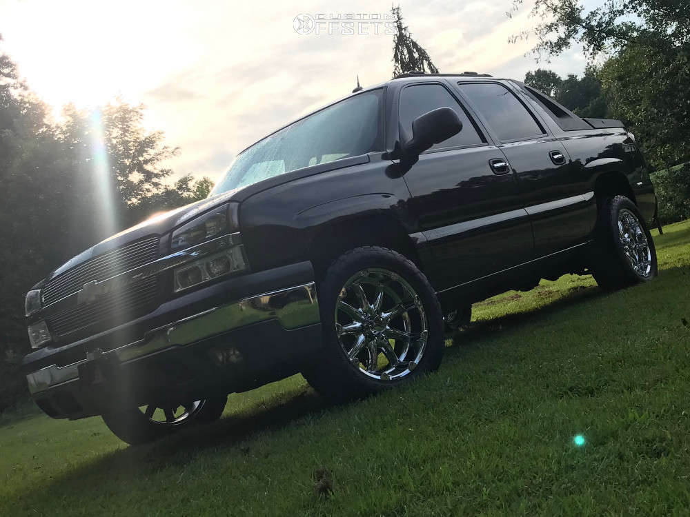 """2004 Chevrolet Avalanche 1500 Aggressive > 1"""" outside fender on 20x9 -12 offset XD Badlands & 305/50 Nitto Terra Grappler G2 on Stock Suspension - Custom Offsets Gallery"""