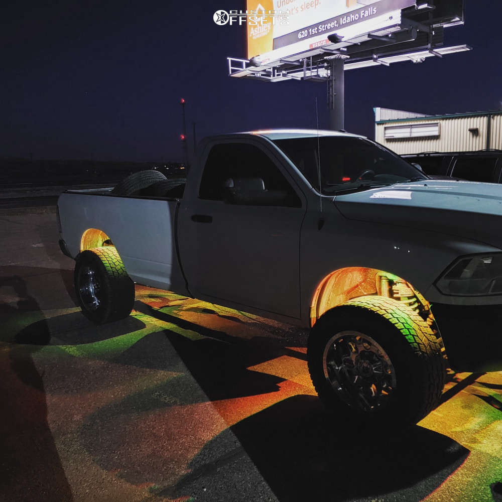 """2016 Ram 3500 Super Aggressive 3""""-5"""" on 20x12 -44 offset RBP 73r & 325/60 Toyo Tires Open Country A/t Ii on Stock Suspension - Custom Offsets Gallery"""