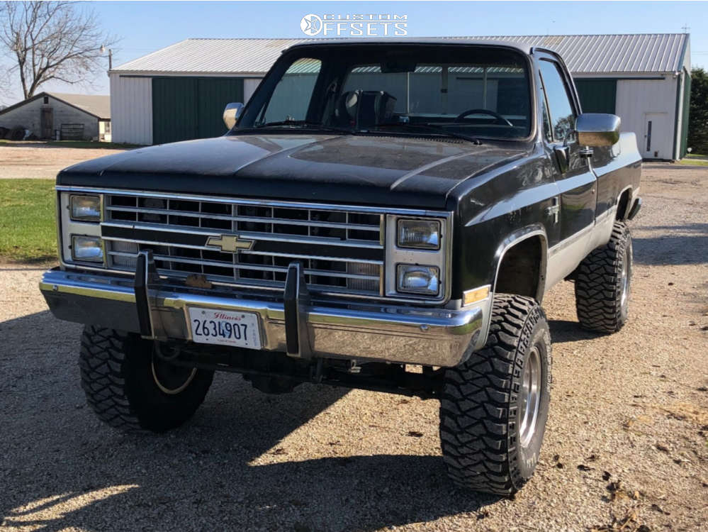 """1985 Chevrolet K20 Pickup Aggressive > 1"""" outside fender on 16x10 -32 offset Ultra Type 164 and 35""""x12.5"""" Mickey Thompson Baja Mtz P3 on Suspension Lift 4"""" - Custom Offsets Gallery"""
