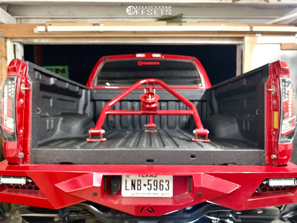 """2016 Toyota Tundra Super Aggressive 3""""-5"""" on 22x12 -44 offset Fuel Assault and 40""""x15.5"""" Nitto Trail Grappler on Lifted >12"""" - Custom Offsets Gallery"""