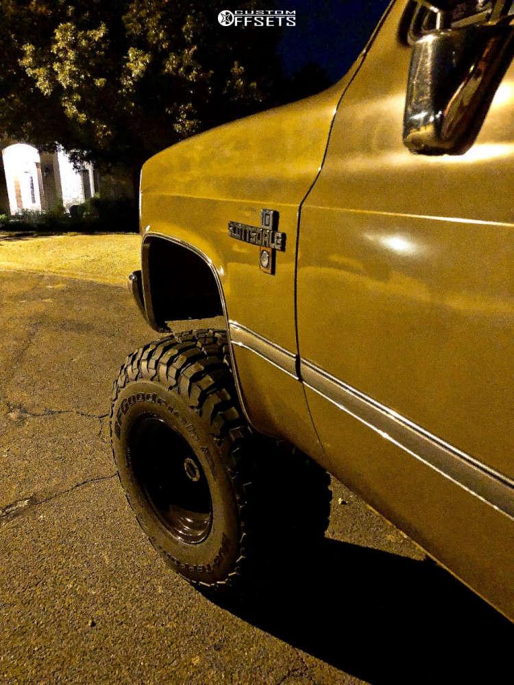 "1985 Chevrolet K10 Super Aggressive 3""-5"" on 15x12 -63 offset Bart Super Trucker and 35""x12.5"" BFGoodrich Mud-terrain T/a Km3 on Suspension Lift 4"" - Custom Offsets Gallery"