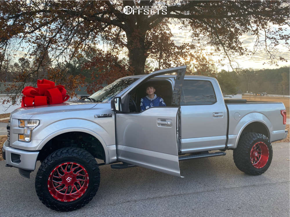 """2016 Ford F-150 Aggressive > 1"""" outside fender on 20x12 -44 offset Tis 544rm and 35""""x12.5"""" Nitto Trail Grappler on Suspension Lift 6"""" - Custom Offsets Gallery"""