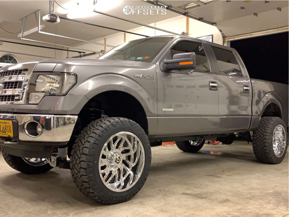 """2013 Ford F-150 Super Aggressive 3""""-5"""" on 22x12 -44 offset TIS 544c and 35""""x12.5"""" Nitto Ridge Grappler on Suspension Lift 6.5"""" - Custom Offsets Gallery"""