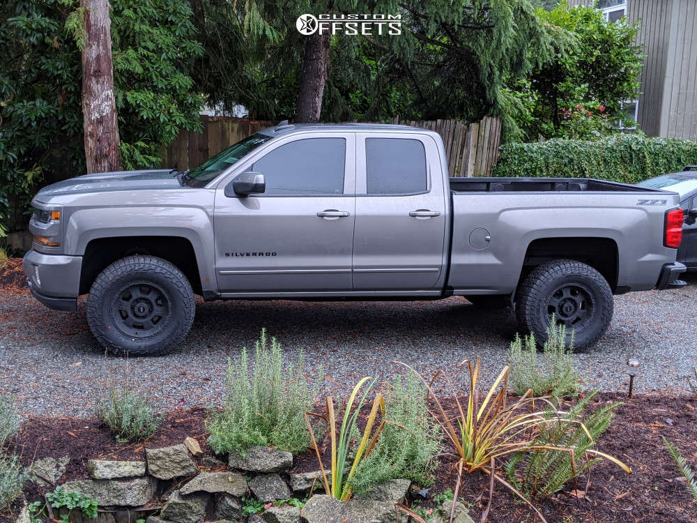 """2017 Chevrolet Silverado 1500 Slightly Aggressive on 17x8 0 offset Pro Comp Series 89 and 285/70 Falken Wildpeak At3w on Suspension Lift 3"""" - Custom Offsets Gallery"""
