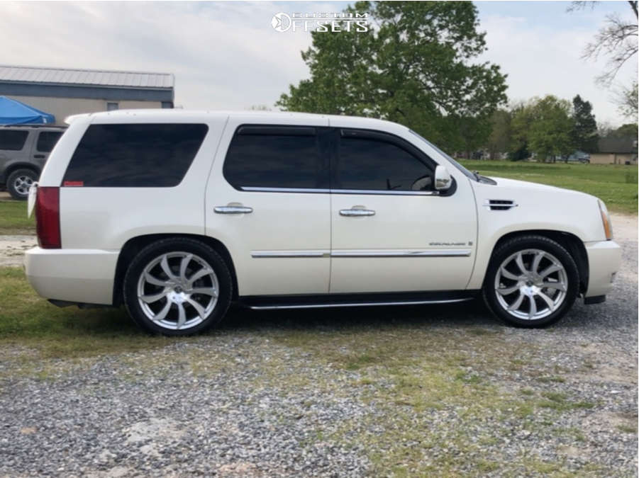 """2007 Cadillac Escalade Aggressive > 1"""" outside fender on 22x9 35 offset Xcess X01 & 285/45 Toyo Tires Proxes S/t on Lowered 2F / 4R - Custom Offsets Gallery"""
