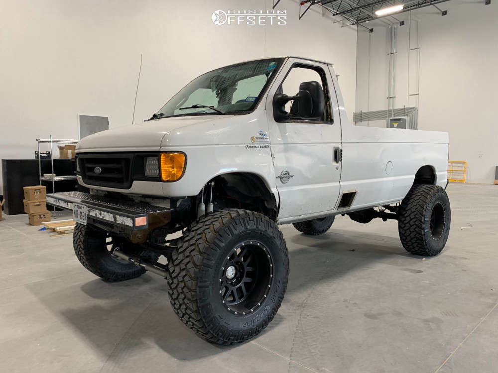 """2005 Ford E-350 Super Duty Super Aggressive 3""""-5"""" on 20x12 -52 offset Method Mr606 and 40""""x15.5"""" Nitto Trail Grappler on Suspension Lift 10"""" - Custom Offsets Gallery"""