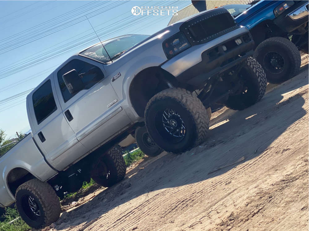 """2003 Ford E-350 Super Duty Super Aggressive 3""""-5"""" on 22x12 -44 offset Hostile Sprocket and 37""""x13.5"""" Toyo Tires Open Country M/T on Suspension Lift 8"""" - Custom Offsets Gallery"""