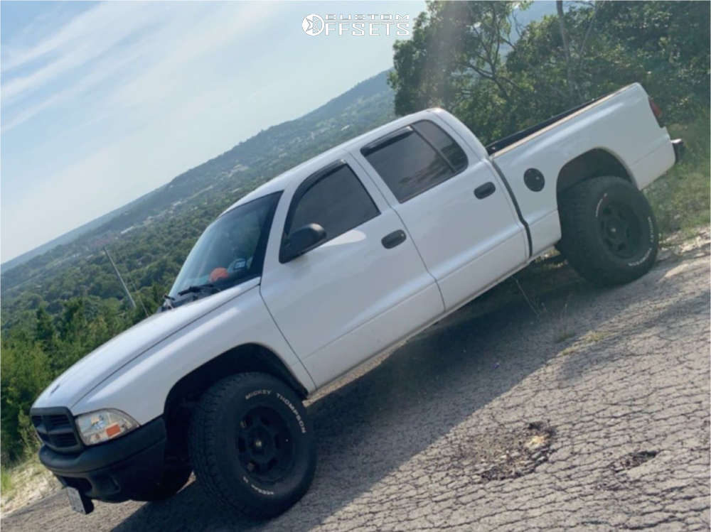 """2001 Dodge Dakota Aggressive > 1"""" outside fender on 16x8 0 offset Pro Comp Series 89 and 265/75 Mickey Thompson Deegan 38 At on Suspension Lift 3"""" - Custom Offsets Gallery"""