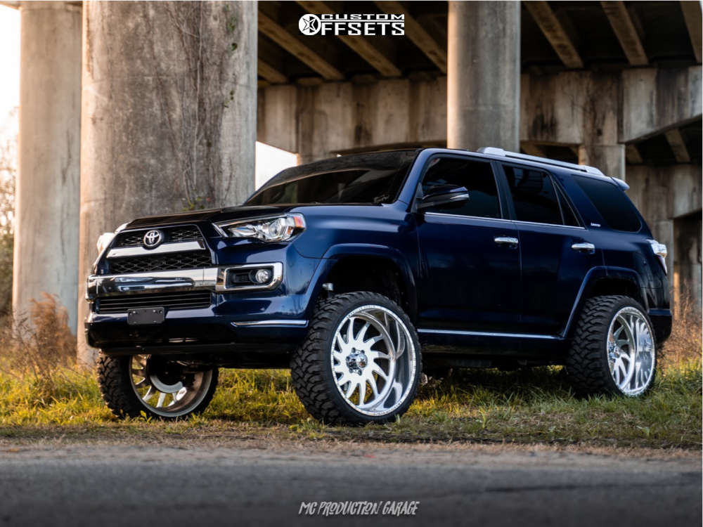 """2016 Toyota 4Runner Super Aggressive 3""""-5"""" on 24x12 -40 offset American Force Spirit Ss and 33""""x12.5"""" Rbp Repulsor Mt on Suspension Lift 7"""" - Custom Offsets Gallery"""