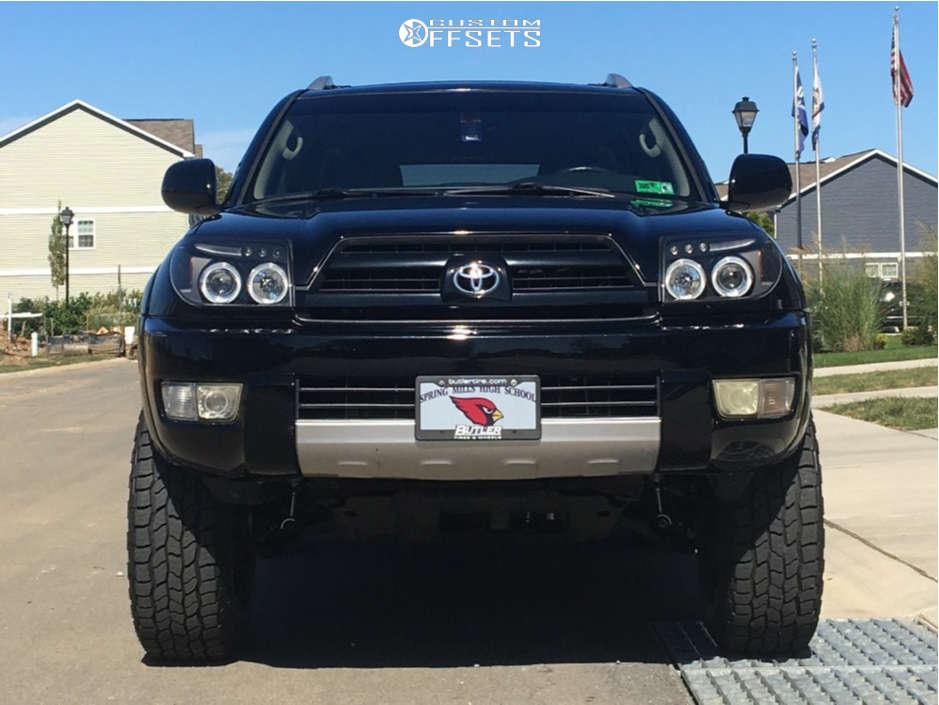 "2004 Toyota 4Runner Aggressive > 1"" outside fender on 18x9 -12 offset Havok H109 and 265""x70"" Cooper Discoverer At3 Xlt on Suspension Lift 3"" - Custom Offsets Gallery"
