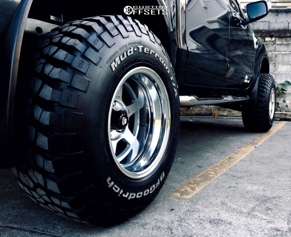 """2013 Ford Raptor Aggressive > 1"""" outside fender on 16x12 -44 offset Enkei J10 and 305/70 BFGoodrich Mud-Terrain T/a Km2 on Suspension Lift 2.5"""" - Custom Offsets Gallery"""