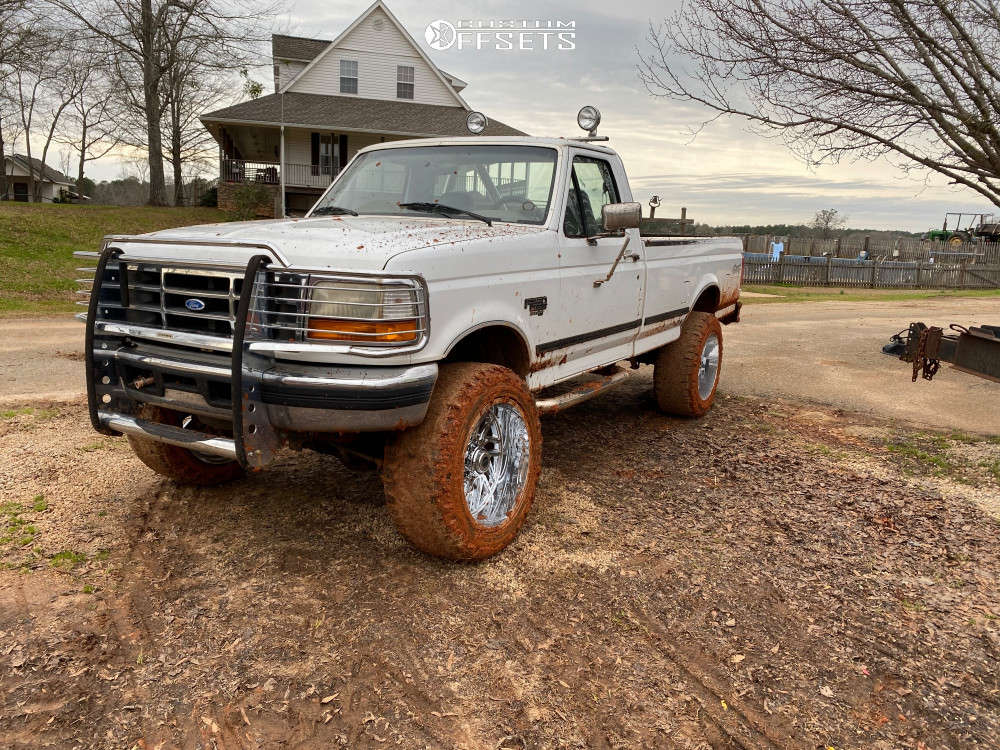 """1996 Ford F-250 Super Aggressive 3""""-5"""" on 22x12 -44 offset TIS 544c & 35""""x12.5"""" Nitto Ridge Grappler on Suspension Lift 4"""" - Custom Offsets Gallery"""