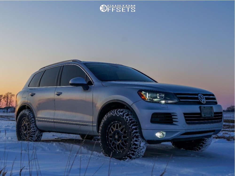 "2012 Volkswagen Touareg Slightly Aggressive on 17x7.5 43 offset XD Grenade and 285/70 BFGoodrich All Terrain Ta Ko2 on Suspension Lift 2.5"" - Custom Offsets Gallery"