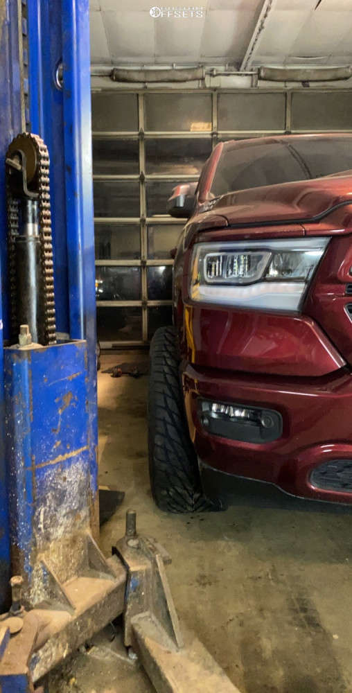 """2020 Ram 1500 Super Aggressive 3""""-5"""" on 22x12 -51 offset ARKON OFF-ROAD Caesar & 305/40 Toyo Tires Proxes S/t on Stock Suspension - Custom Offsets Gallery"""