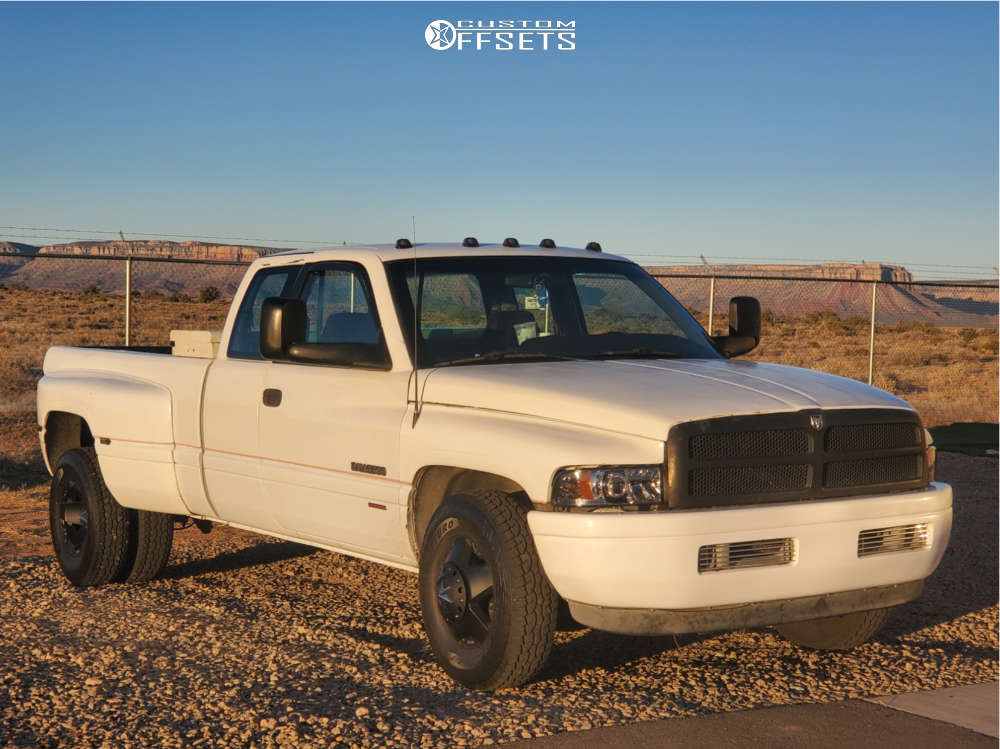 1996 Dodge Ram 3500 Flush on 16x6 111 offset XD Xd775 and 235/85 Atturo Trail Blade At on Stock Suspension - Custom Offsets Gallery