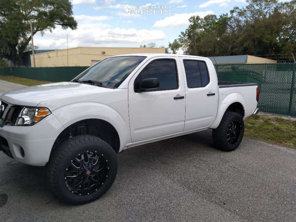 """2012 Nissan Frontier Aggressive > 1"""" outside fender on 20x9 0 offset Ballistic Tank & 285/55 Toyo Tires Open Country A/t Ii on Suspension Lift 6"""" - Custom Offsets Gallery"""