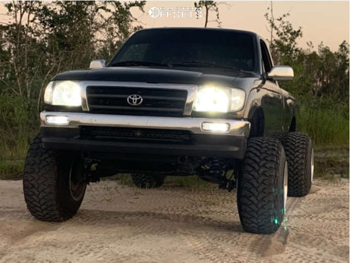"""1997 Toyota Tacoma Hella Stance >5"""" on 15x14 -102 offset Weld Racing Typhoon and 32""""x11.5"""" Comforser Cf3000 on Suspension Lift 6"""" & Body 3"""" - Custom Offsets Gallery"""