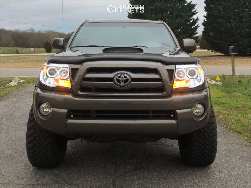 """2009 Toyota Tacoma Super Aggressive 3""""-5"""" on 20x10 -19 offset Ballistic Rage and 295/55 Toyo Tires Open Country M/T on Suspension Lift 3"""" - Custom Offsets Gallery"""