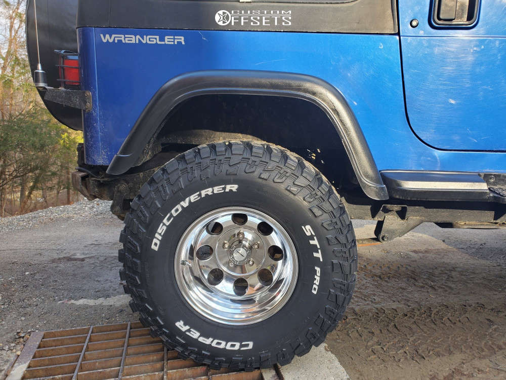 """1995 Jeep Wrangler Nearly Flush on 15x10 -47 offset Pro Comp Series 69 and 33""""x12.5"""" Cooper Discoverer Stt Pro on Suspension Lift 4"""" - Custom Offsets Gallery"""