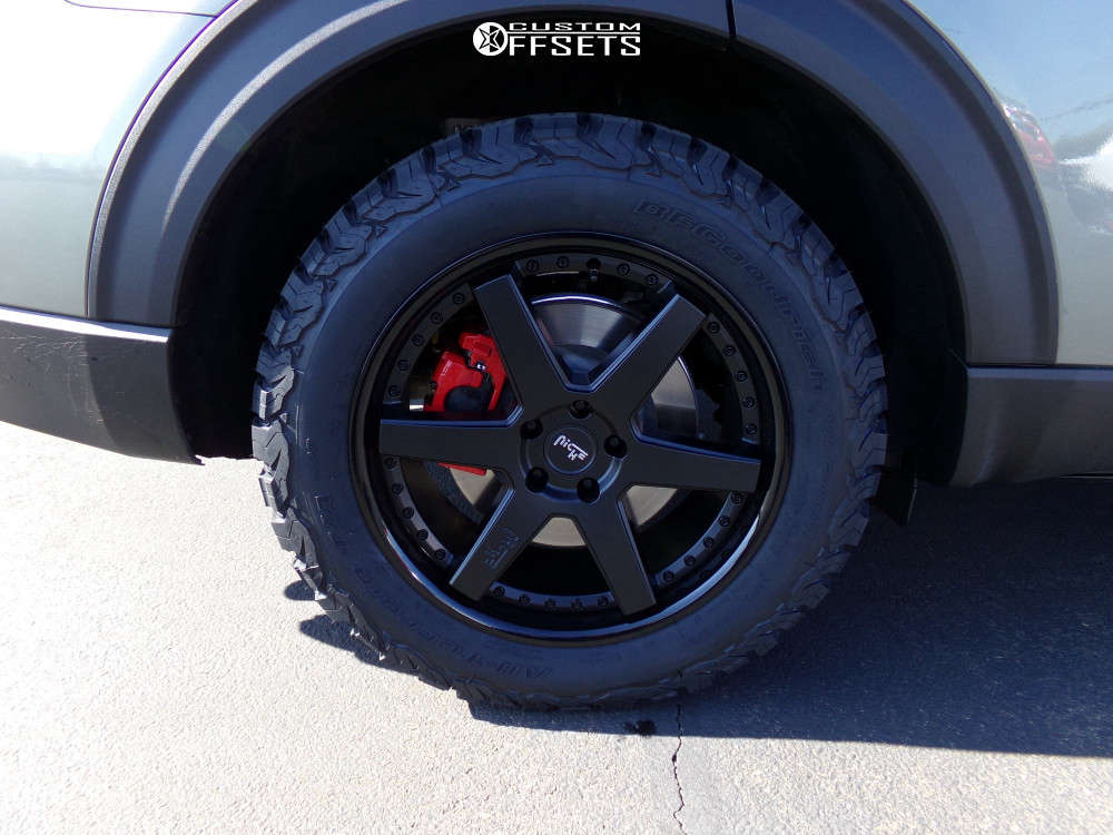 2020 Ford Explorer Tucked on 20x9 35 offset Niche Altair and 275/55 BFGoodrich All Terrain Ta Ko2 on Stock Suspension - Custom Offsets Gallery
