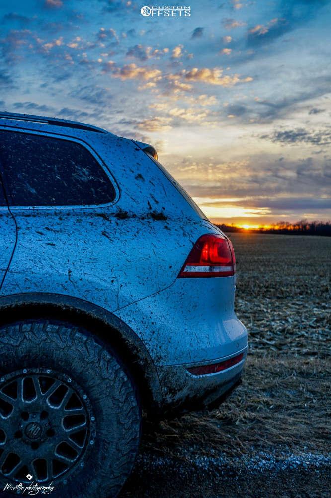 "2012 Volkswagen Touareg Slightly Aggressive on 17x7.5 43 offset XD Xd820 and 285/70 BFGoodrich All Terrain Ta Ko2 on Suspension Lift 2.5"" - Custom Offsets Gallery"