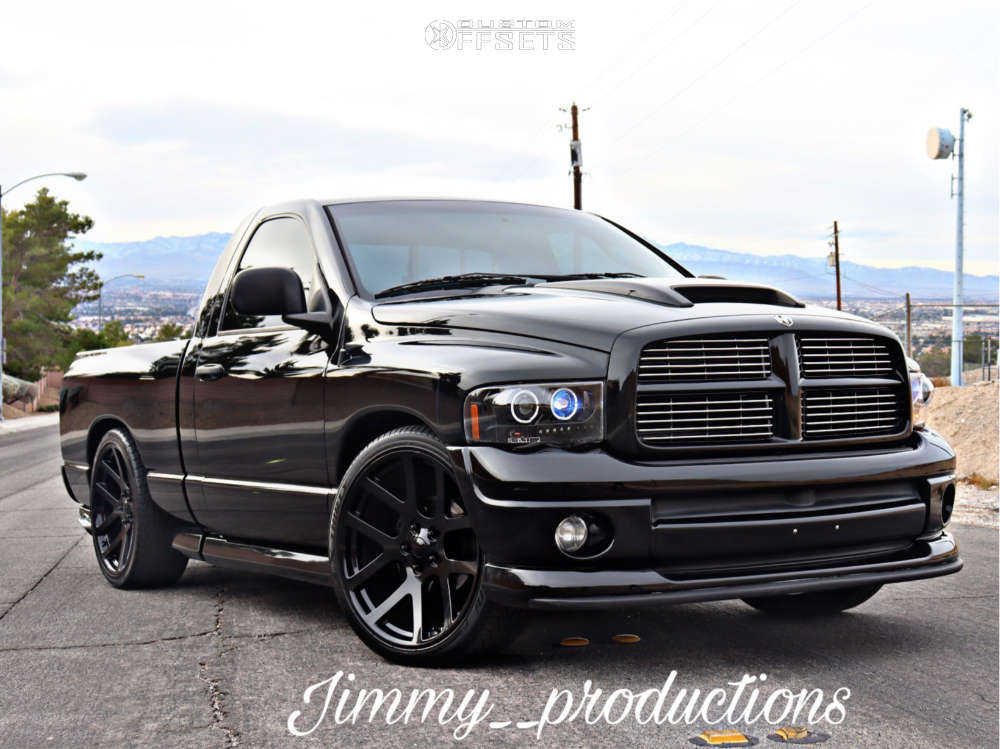 """2004 Dodge Ram 1500 Aggressive > 1"""" outside fender on 24x10 25 offset Factory Reproductions Fr60 & 305/30 Lionhart Lh-503 on Lowered 4F / 6R - Custom Offsets Gallery"""