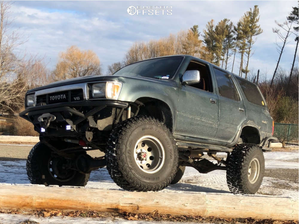 """1991 Toyota 4Runner Aggressive > 1"""" outside fender on 15x10 -43 offset American Racing Baja and 35""""x12.5"""" BFGoodrich Mud-terrain T/a Km3 on Suspension Lift 6"""" - Custom Offsets Gallery"""