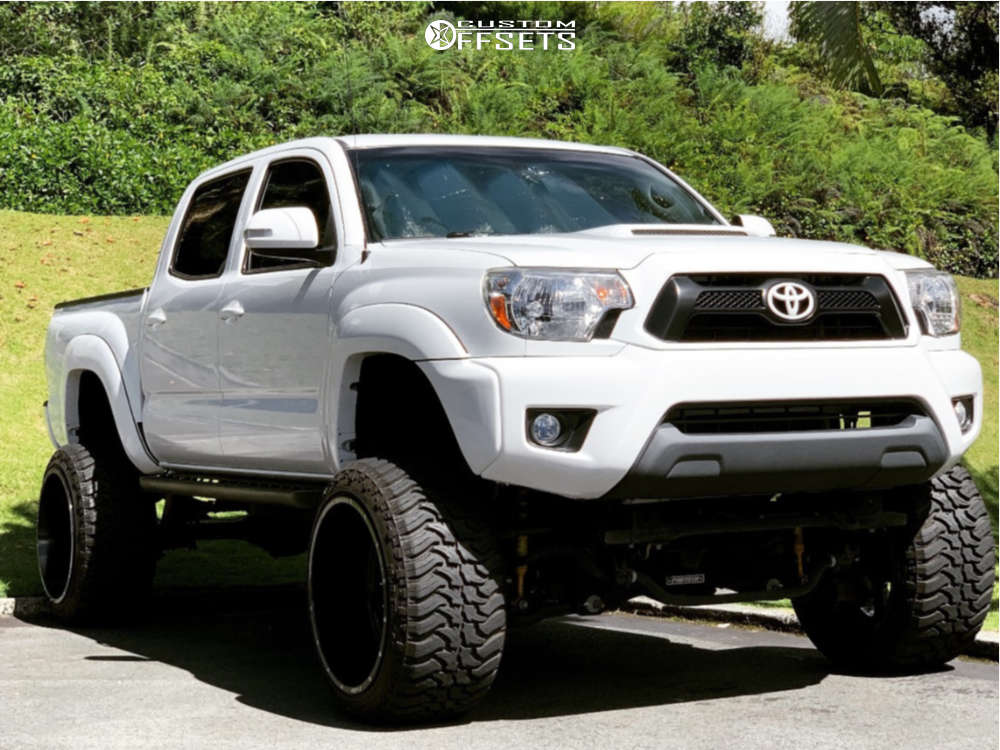 """2015 Toyota Tacoma Super Aggressive 3""""-5"""" on 22x14 -76 offset Hostile Exile and 33""""x12.5"""" Black Bear Mud Terrain on Suspension Lift 9"""" - Custom Offsets Gallery"""