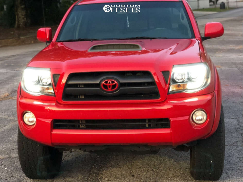 """2006 Toyota Tacoma HellaFlush on 17x9 -12 offset Mb Wheels Tko and 285/70 Nitto Terra Grappler G2 on Suspension Lift 3"""" - Custom Offsets Gallery"""